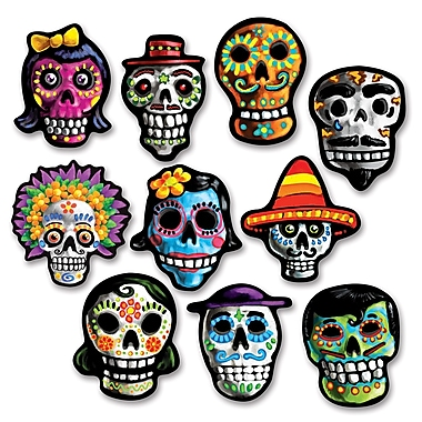 Mini Day Of The Dead Cutouts, 4 3/4