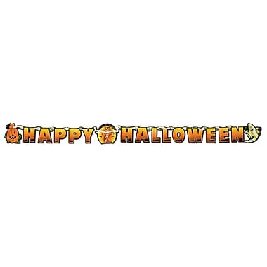 Banderole Happy Scary Halloween, 5 1/2 po x 6 po, paq./4