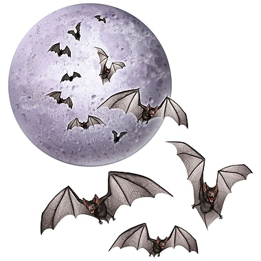 Moon and Bat Cutouts, 8 1/2