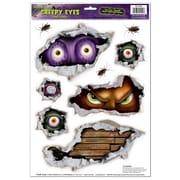"""Beistle 12"""" x 17"""" Creepy Eyes Peel 'N Place Sticker, 36/Pack"""