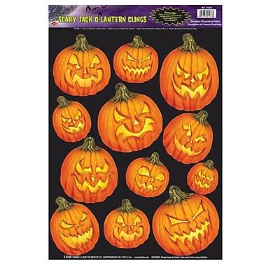 Scary Jack-O-Lantern Clings, 12