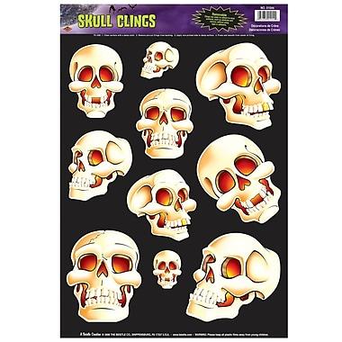 Autocollants crânes, feuilles 12 x 17 po, paq./7