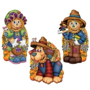 """Beistle 16 1/2"""" - 19"""" Scarecrow Cutouts, 9/Pack"""