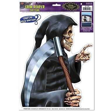 Grim Reaper Backseat Driver Car Cling, 12