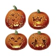 Beistle 14in. Carved Pumpkin Cutouts, 12/Pack