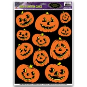 "Beistle 12"" x 17"" Jack-O-Lantern Clings, 77/Pack"
