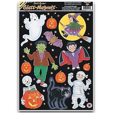 Autocollants personnages d'Halloween pour enfants, feuilles 12 x 17 po, paq./7
