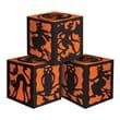 Beistle 3 1/4in. x 3 1/4in. Halloween Favor Box, Black/Orange, 6/Pack
