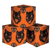 "Beistle 3 1/4"" x 3 1/4"" Halloween Cat Favor Box, Black/Orange, 6/Pack"