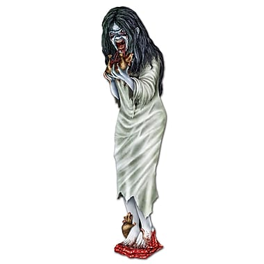 Zombie Girl Cutout, 3', 6/pack