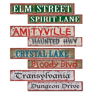 Halloween Street Sign Cutouts, 4