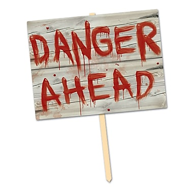 Plastic Danger Ahead Yard Sign, 11