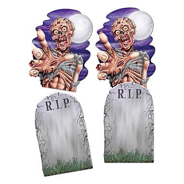 Jumbo Tombstone and Zombie Cutouts, 24 1/2