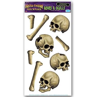 Peel'N Place – Os et crânes, feuille de 12 x 24 po, paq./3