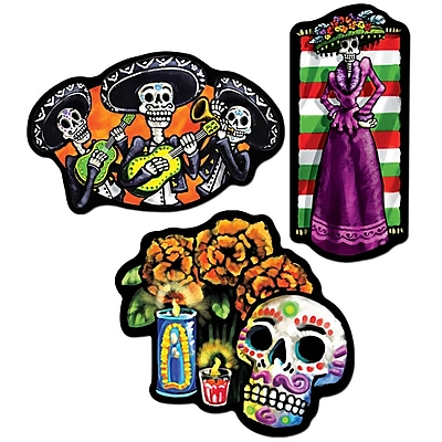 """""Beistle 18"""""""" Day Of The Dead Cutouts, 9/Pack"""""" 1066700"