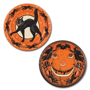 "Beistle 9"" Vintage Halloween Plate, Orange/Black, 16/Pack"