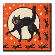 "Beistle 6 1/2"" x 6 1/2"" Halloween Luncheon Napkins, Orange, 32/Pack"
