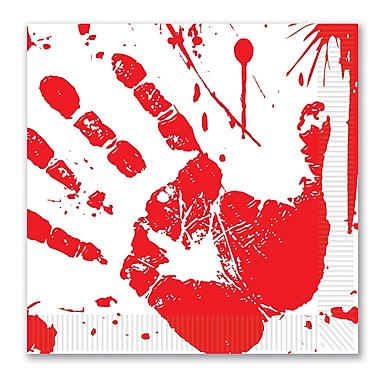 Bloody Handprints Luncheon Napkins, Luncheon, 48/pack