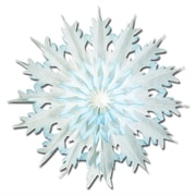 "Beistle 17"" Dip-Dyed Snowflakes, White/Blue, 6/Pack"