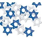 Beistle Star Of David Fanci Confetti, Blue/Silver, 5/Pack