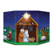 Beistle 3' 1 x 25 Nativity Stand Up Cutouts, 2/Pack
