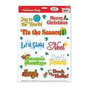 """Beistle 12"""" x 17"""" Christmas Clings, 133/Pack"""