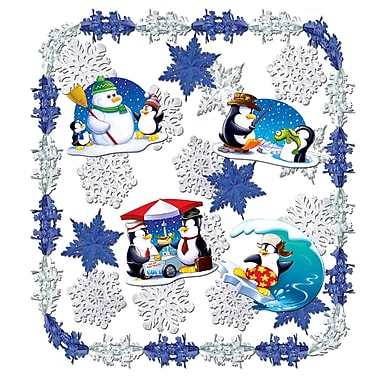 Beistle 24-Piece Let It Snow Metallic Decorating Kit