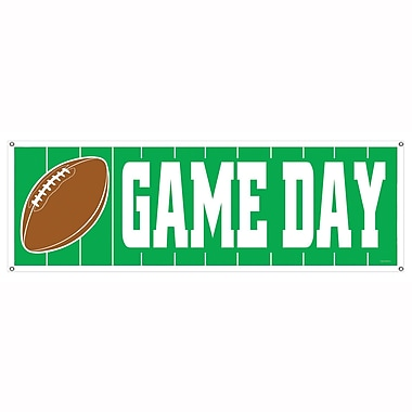 Game Day Football Sign Banner, 5' x 21