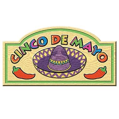 Affiche « Cinco de Mayo », 9 1/2 x 18 1/2 po, 9/paquet
