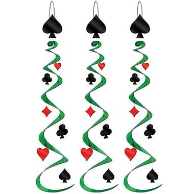 Tourbillons Couleurs de jeu de cartes, 30 po, paq./9