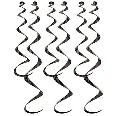 Déco en spirales, 24 po et 36 po, noir, 18/paquet