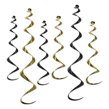 Twirly Whirlys, couleurs variées, 24 po et 36 po, noir/doré, 18/paquet