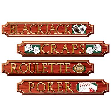 Casino Sign Cutouts, 4