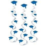 "Beistle 30"" Printed Grad Cap Whirls, Blue, 9/Pack"