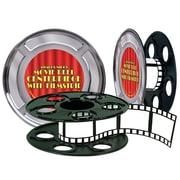 "Beistle 9"" Movie Reel With Filmstrip Centerpiece, 2/Pack"