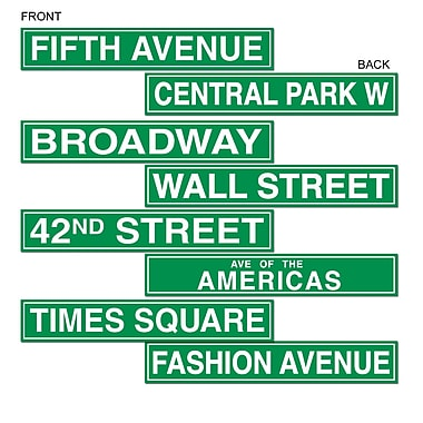 New York City Street Name Cutouts, 4