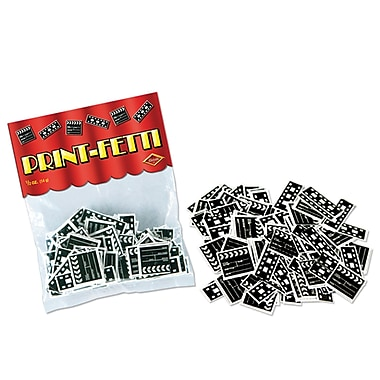 Beistle Clapboard & Filmstrip Print Confetti, Black/White, 2/Pack