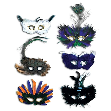 Majestic Fanci-Feather Masks, One size fits most, 12/pack