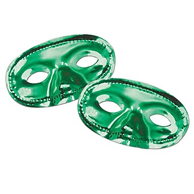 Metallic Half Mask, Green, 17/Pack