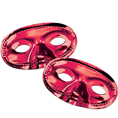 Metallic Half Mask, Red, 17/Pack