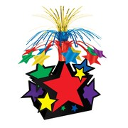 "Beistle 15"" Star Centerpiece, Multicolor, 3/Pack"