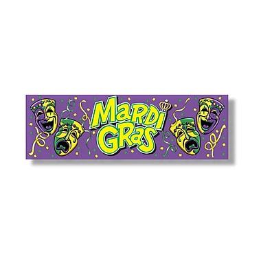Bannière « Mardi Gras », 5 pi 3 po x 21 po, paq./3