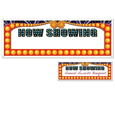 Now Showing Sign Banner, 5' x 21