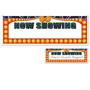 "Beistle 5' x 21"" Now Showing Sign Banner, 3/Pack"