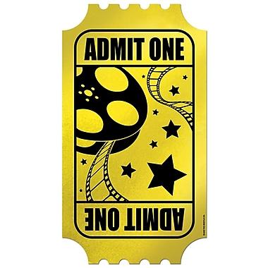 Ticket scintillant doré, 15 po, 5/paquet