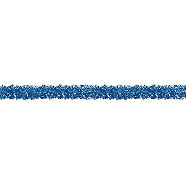 Guirlandes ornementales 6 épaisseurs résistantes aux flammes, 4 po x 15 pi, bleues, 2/paquet