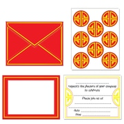 "Beistle Chinese Invitations and Seals, 4"" x 6"""