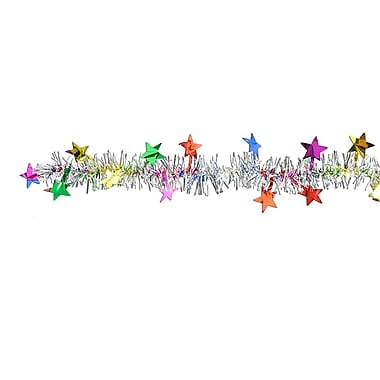 Metallic Star Garland, 12', Multi-Colour, 3/Pack