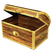 """Beistle 11 3/4"""" x 8"""" Treasure Chest Box, 2/Pack"""