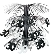 "Beistle 18"" ""30"" Cascade Centerpiece, Black/Silver, 3/Pack"